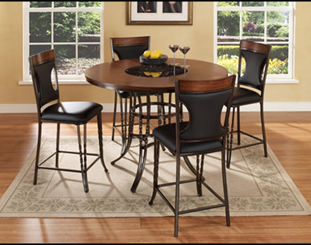 ultimate accents dynasty  piece counter height dining set  -   piece kitchen  dining room sets sku ult