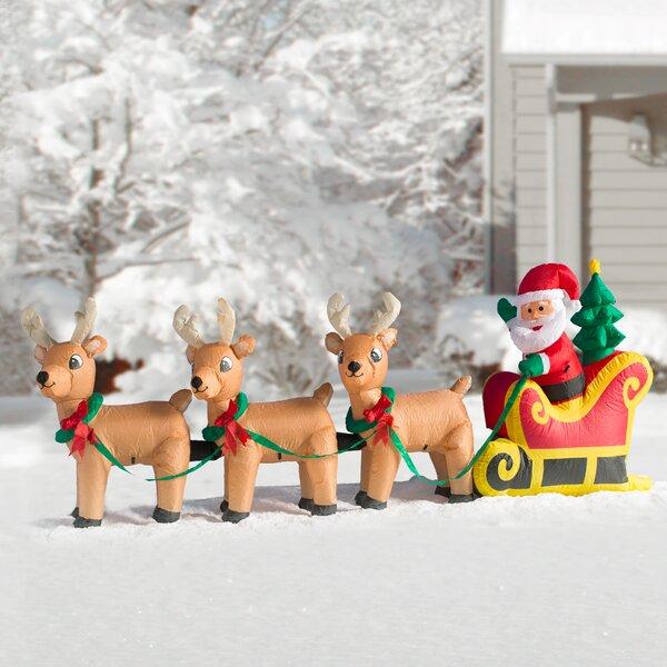 Outdoor Christmas Sleigh.Christmas Outdoor Sleigh Wayfair
