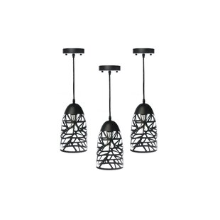 Orren Ellis Matos 1-Light Bell Pendant (Set of 3)