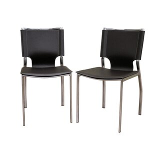 Crowborough Bonded Upholstered Dining Chair (Set of 2) Orren Ellis