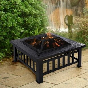 Hannigan Steel Charcoal/Wood Burning Fire Pit By Sol 72 Outdoor