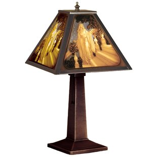 Best Reviews Maxfield Parrish Cinderella Porcelain Lithophane 18.5 Table Lamp By Meyda Tiffany