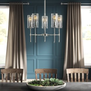 Plattsmouth 5-Light LED Shaded Chandelier by Greyleigh