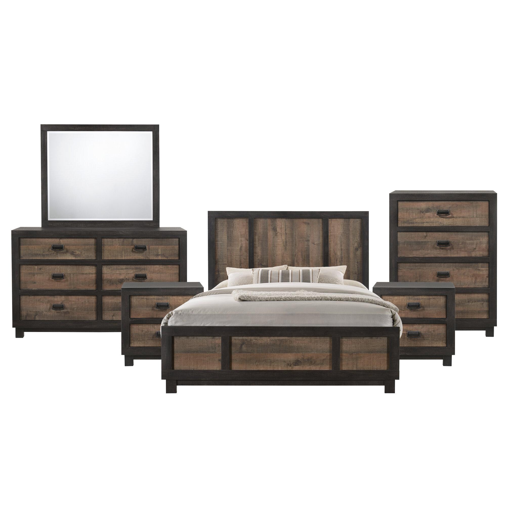 Gracie Oaks Llewellyn Standard 6 Piece Bedroom Set Reviews Wayfair