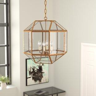 Burkeville 4-Light Geometric Chandelier