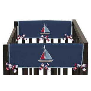 Best Price Nautical Nights Side Crib Rail Guard Cover (Set of 2) BySweet Jojo Designs