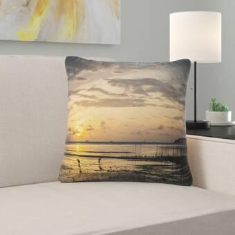 Highland Dunes Holmquists Mermaids Have More Fun Salmon Outdoor Throw Pillow Wayfair