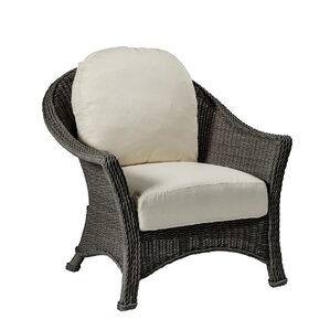 Regent Patio Chair And Ottoman With Cushions