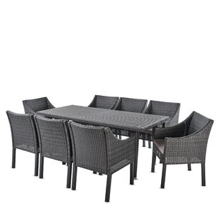 Luebbert 9 Piece Dining Set with Cushions
