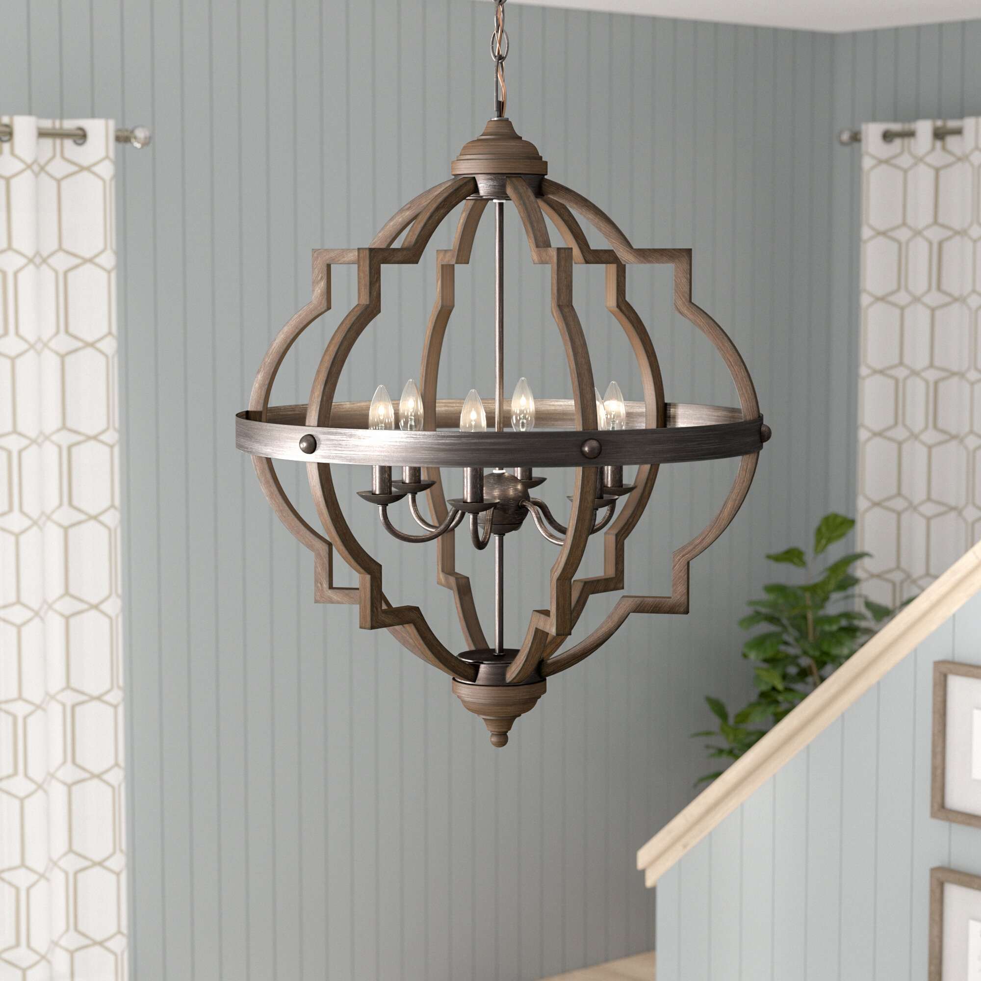 Birch Lane Rithland 6 Light Candle Style Geometric Chandelier Reviews Wayfair Ca