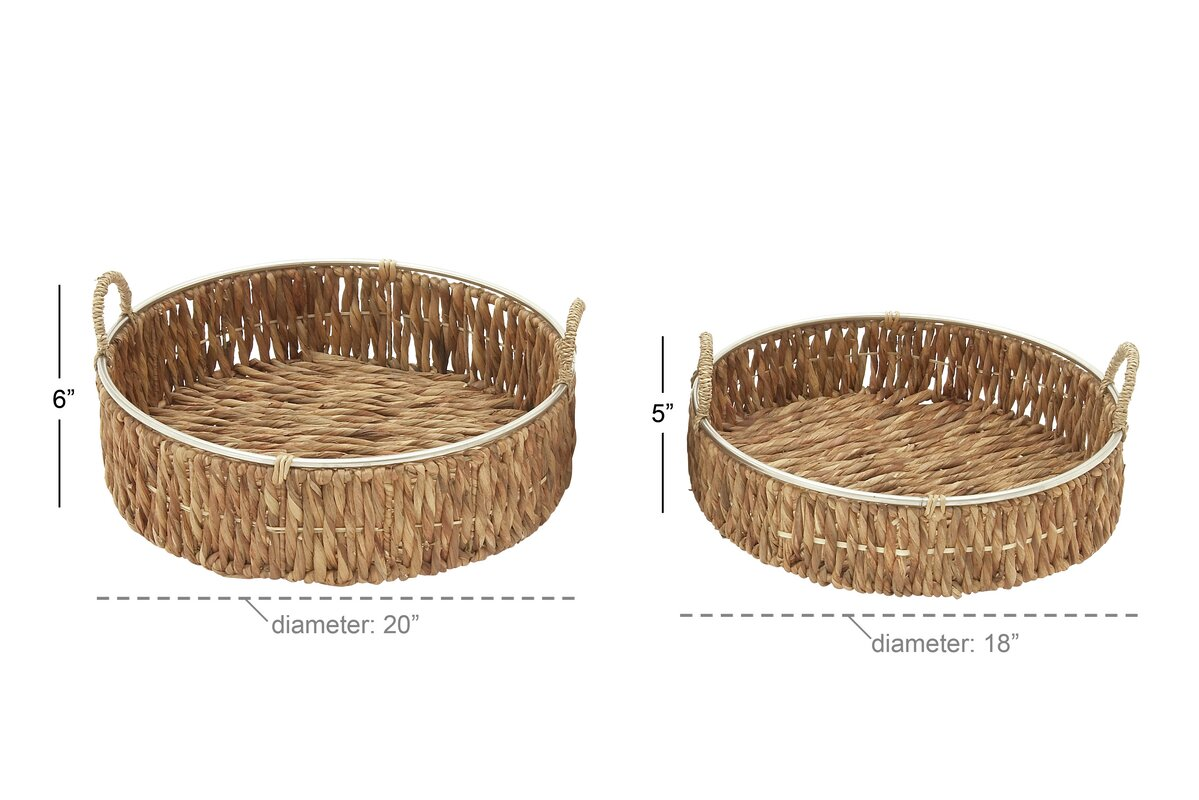 Cole & Grey Seagrass 2 Piece Basket Set & Reviews | Wayfair