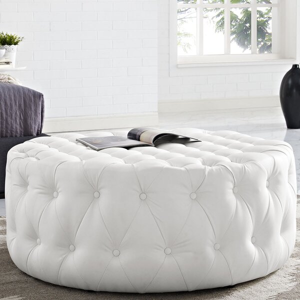 Enjoyable Ivory Tufted Ottoman Wayfair Ocoug Best Dining Table And Chair Ideas Images Ocougorg