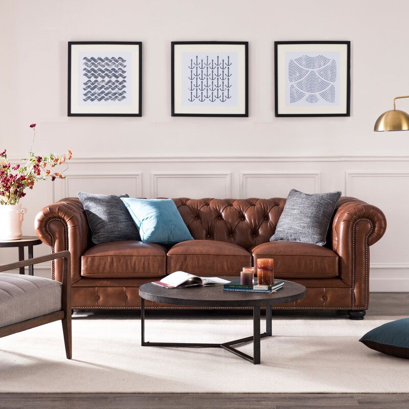 Brinson Leather Chesterfield Sofa