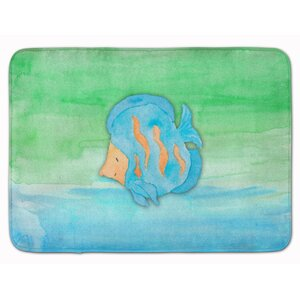Fish Watercolor Memory Foam Bath Rug