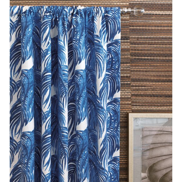 Eastern Accents Delphine Palm Leaf Floral Room Darkening Rod Pocket Single Curtain Panel Wayfair