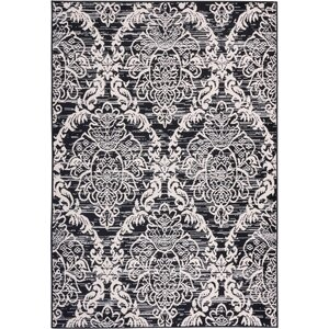Simone Sunshine Circles Black/White Area Rug