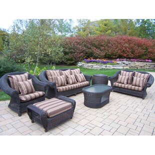 Oakland Living Cambridge 6 Piece Sofa Set with Cushions