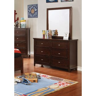 Sebring 6 Drawer Double Dresser with Mirror by Harriet Bee