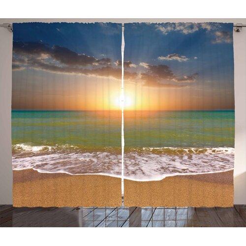 Sunset 2-Piece Pinch Pleat/Tab Top Room Darkening Thermal Cu