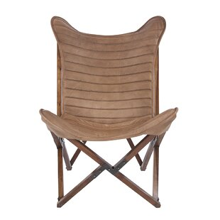 Keila Leather Sling Lounge Chair