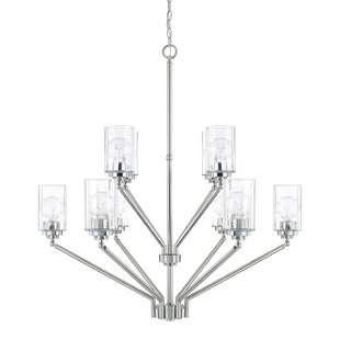 Beachcrest Home Hague 10-Light Shaded Chandelier