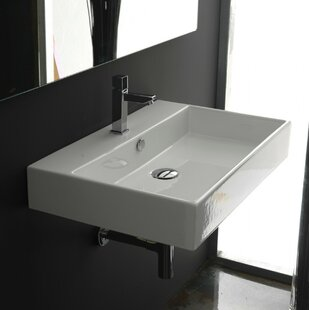 WS Bath Collections Ceramica II Unlimited Ceramic Rectangular Vessel Bathroom Sink with Overflow
