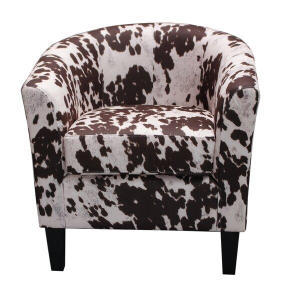 Superb Container Cow Spot Print Barrel Chair U0026 Reviews | Wayfair