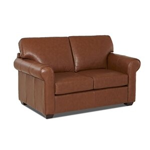 Rachel Leather Loveseat by Wayfair Custom Up..