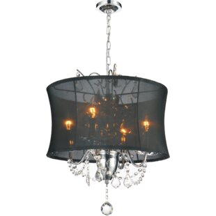 CWI Lighting 4-Light Shaded Chandelier