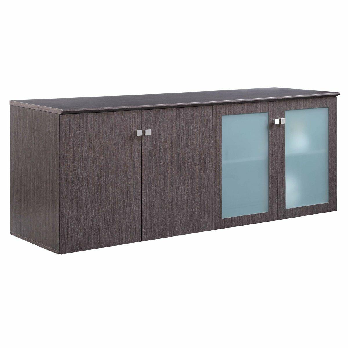 Office Storage 4 Door Credenza Cabinet All Wooden Doors, Mahogany Conference Office Room Credenza 72