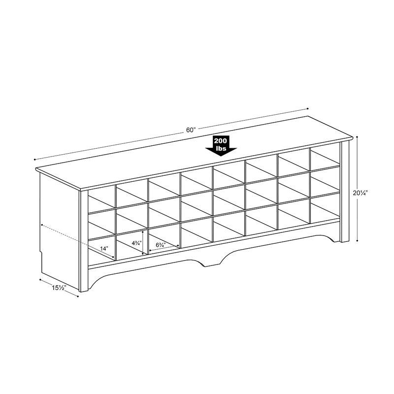 Ingham Shoe Cubby Storage Bench