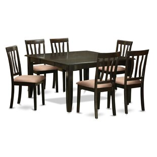 Pilning 7 Piece Extendable Solid Wood Dining Set August Grove