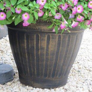 Floral Fluted Plant Pot By Freeport Park