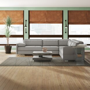 Argie Leather 119 Symmetrical Sectional
