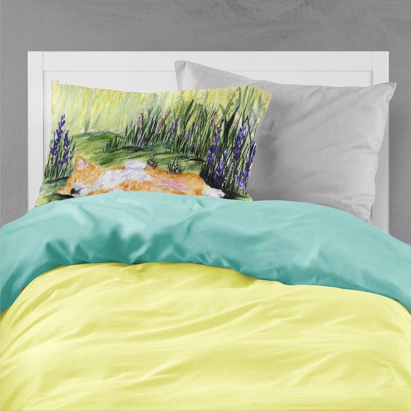 East Urban Home Corgi Moisture Wicking Pillowcase Wayfair