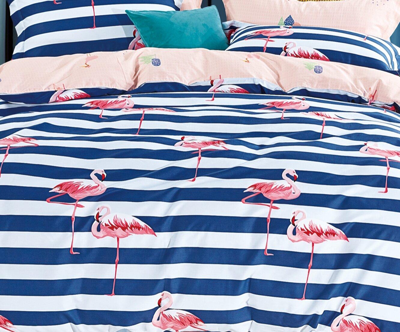CARIBBEAN FLAMINGO Floral Duvet Quilt Cover Bedding Set