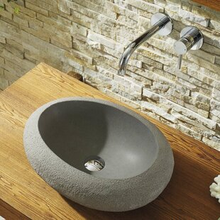 Virtu USA Cora Stone Circular Vessel Bathroom Sink