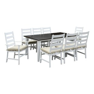 Halverson 13 Piece Dining Set with Cushions by Highland Dunes