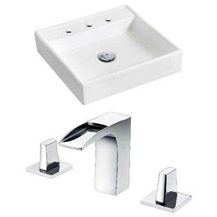 Find for Ceramic 17.5 Wall Mount Bathroom Sink with Faucet By Royal Purple Bath Kitchen