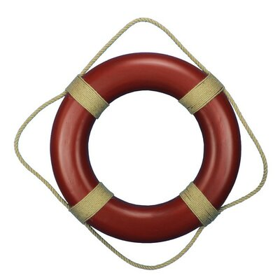 """Handcrafted Nautical Decor 20"""" Decorative Life Ring Wall Plaque Wall Décor Colour: Blue, Size: 20"""" H x 20"""" W x 2"""" D"""