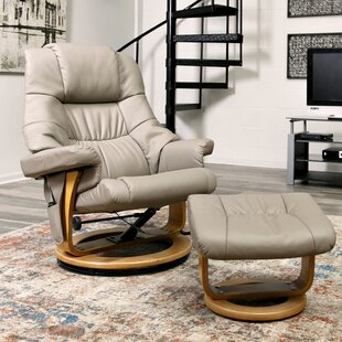 Top Reviews Reclining Massage Chair with Ottoman By Red Barrel Studio