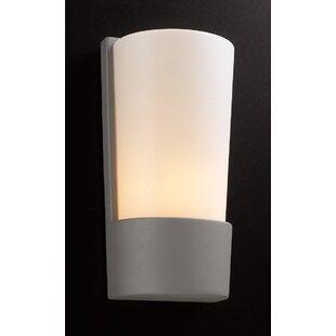 Trueblood 1-Light Outdoor Flush Mount by Ebern Designs