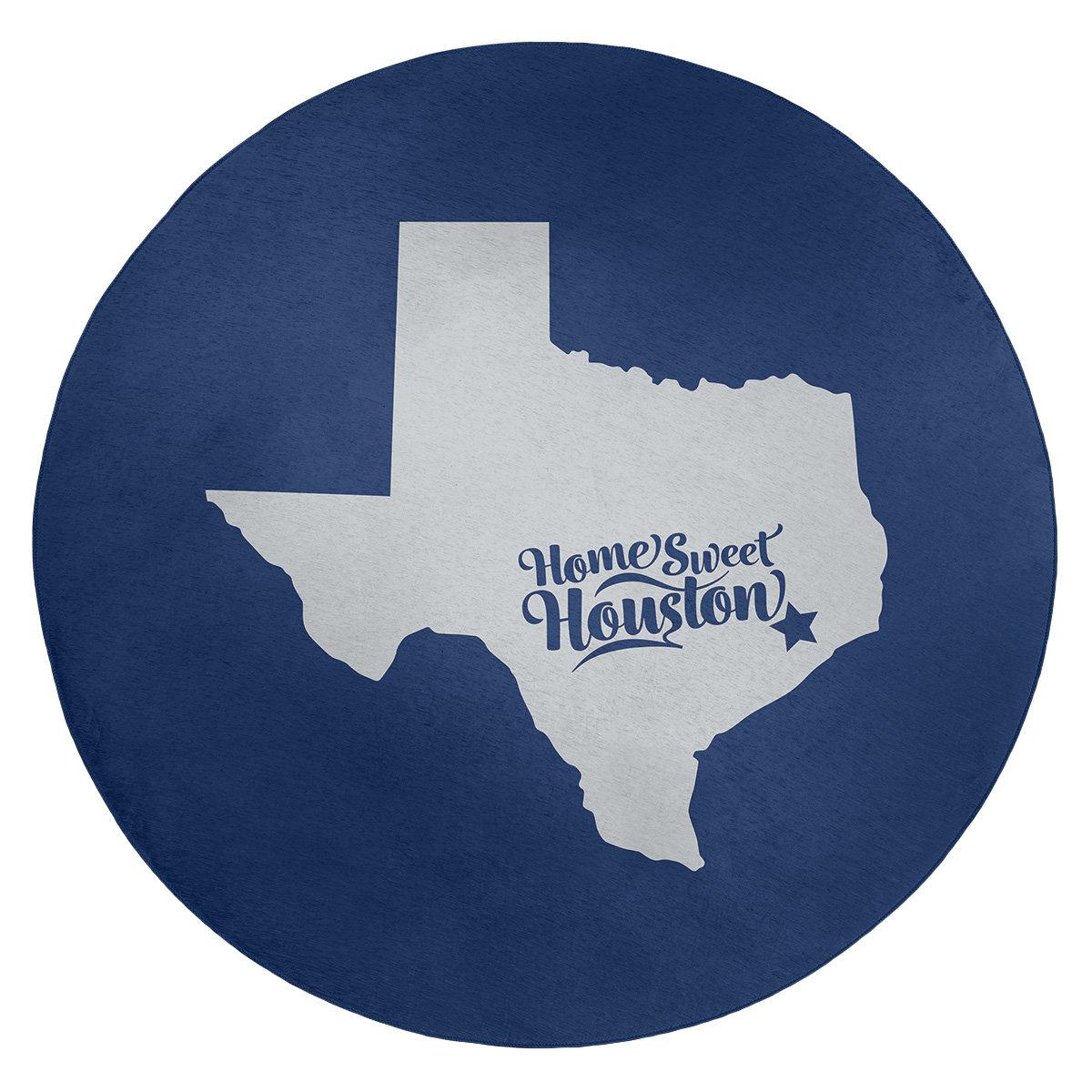 East Urban Home Houston Texas Sports Colors Poly Chenille Rug Wayfair