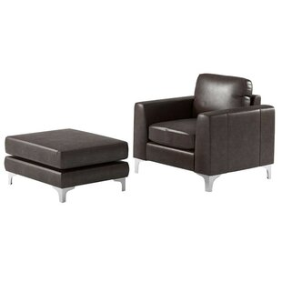 Barraza Aniline Club Chair and Ottoman by Wade Logan