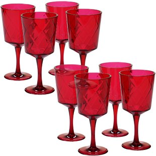 Diamond 20 oz. Acrylic Goblet (Set of 8)