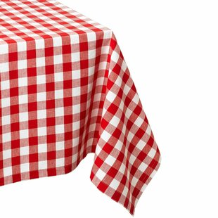 red checkered table cloth wayfair