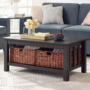 wooden living room tables. Goldhorn Wood Storage Coffee Table Farmhouse  Rustic Tables Birch Lane