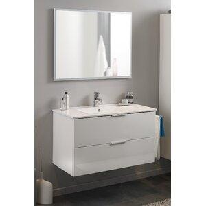Parisot 90 cm Wandmontierter Waschtisch Luxy mit Spiegel und Armatur