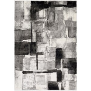 Devaney Black/Gray Area Rug