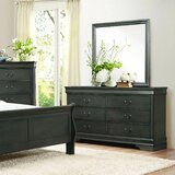 Waynesburg 6 Drawer Double Dresser with Mirror by Alcott Hill®